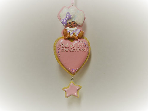 baby's 1st christmas gingerbread with heart