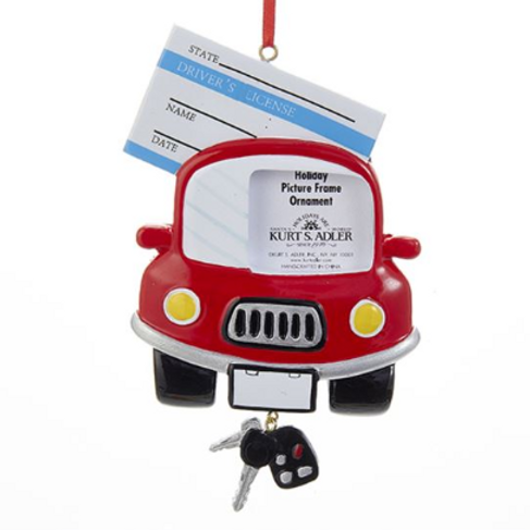 car photo frame drivers license with keys