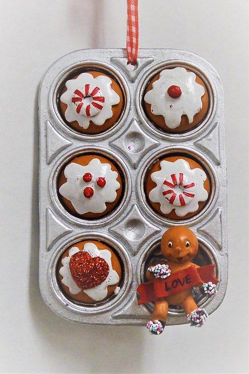 gingerbread cupcake tray
