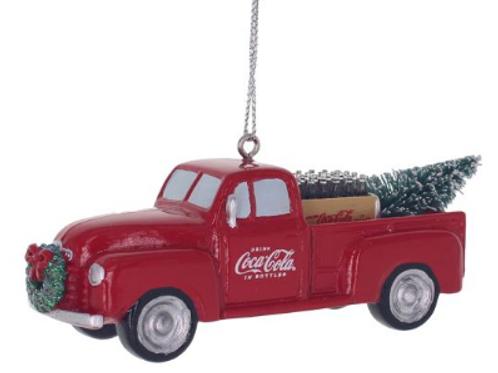 coca cola truck hauling christmas trees