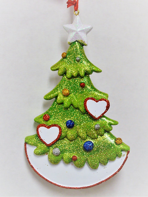christmas tree with hearts 2