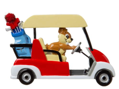 golf cart with gopher