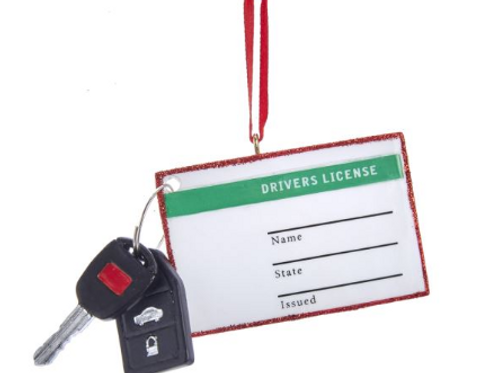drivers license and key with key fob