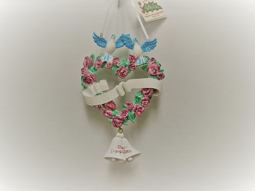 doves with rose heart engagement banner