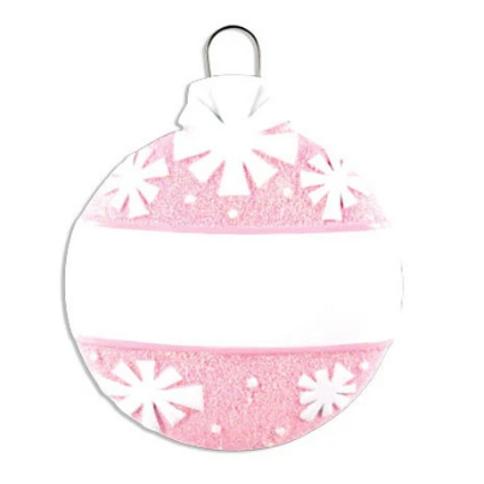 christmas ball-pink