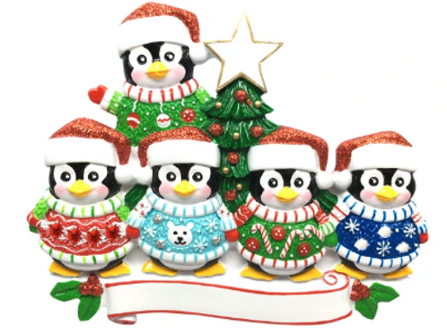 penguin ugly sweater family 5