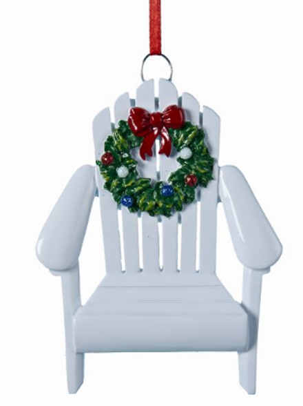 adirondack chair with wreath