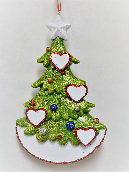 christmas tree with hearts 4