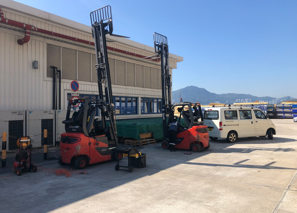 Service for Linde 386 Counterbalanced Truck