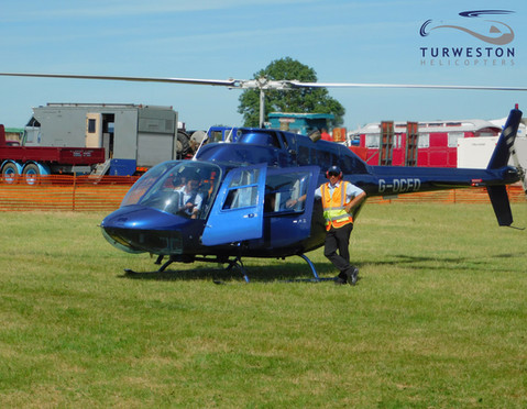 Turweston Helicopters in G-OCFD Pleasure