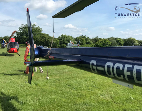 G-OCFD from Turweston Helicopters with a