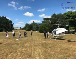 Turweston Helicopters wedding to Warwick