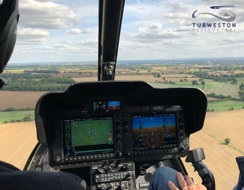 Turweston Helicopters trying out our NEW