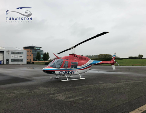 Turweston Helicopters Jet Ranger on the