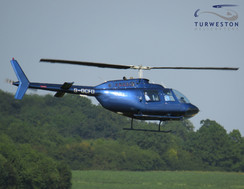 Turweston Helicopters departing for a da