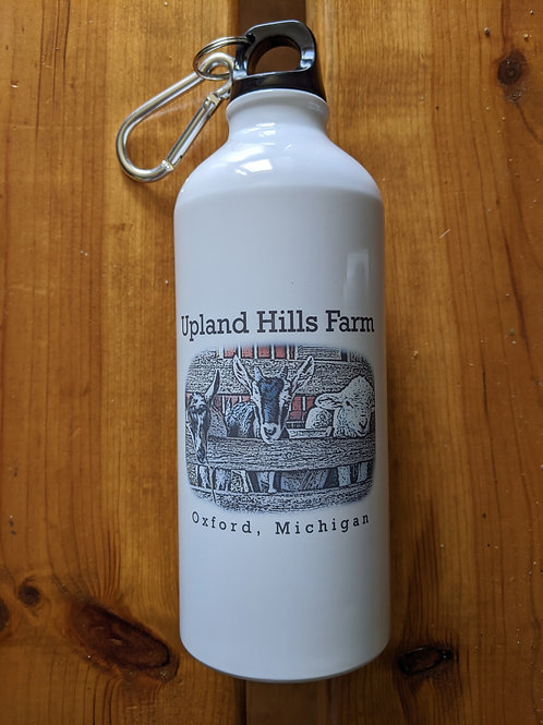 Water bottle with Sheep and Goat design