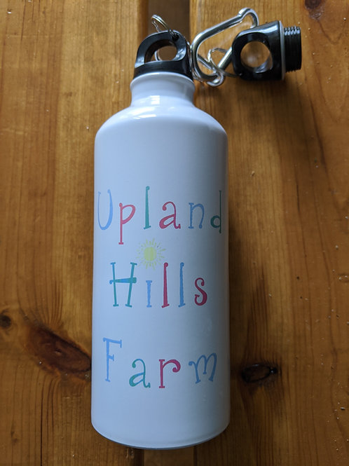 Water bottle with colorful UHF logo