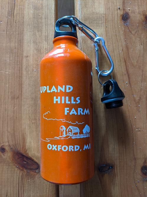 Water bottle with farm logo