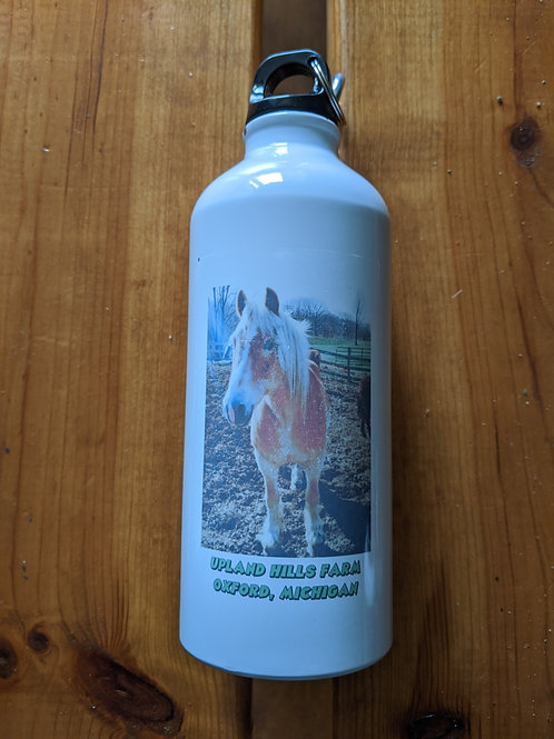 Water bottle with horse logo