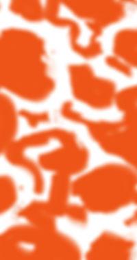 オレンジ色の抽象画