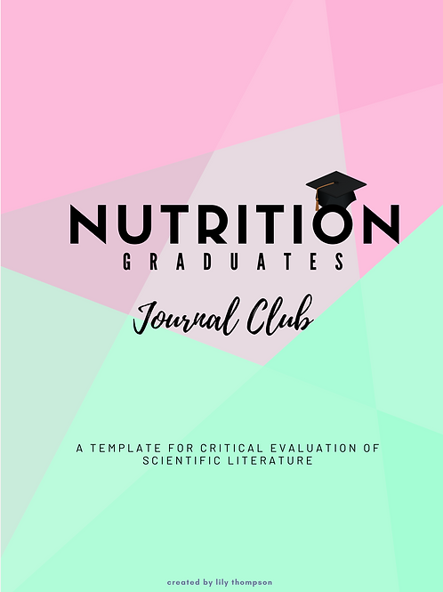 NGJC Template for critical evaluation of scientific literature