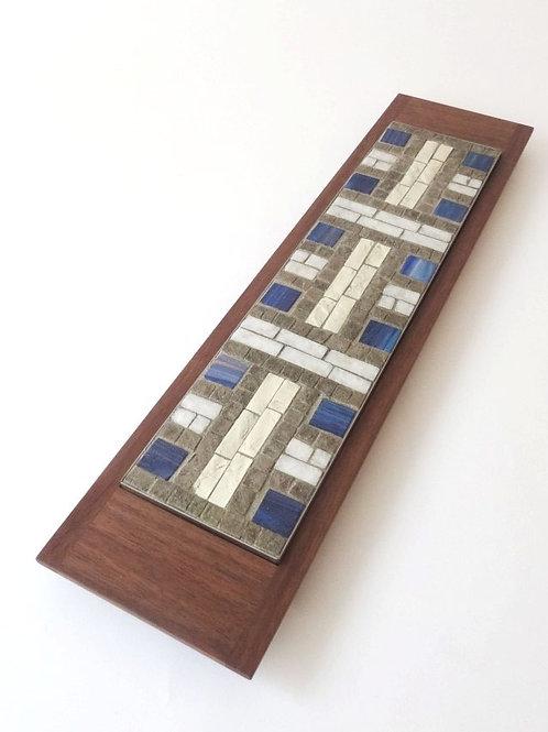 Mosaici Plate H-akka - blue
