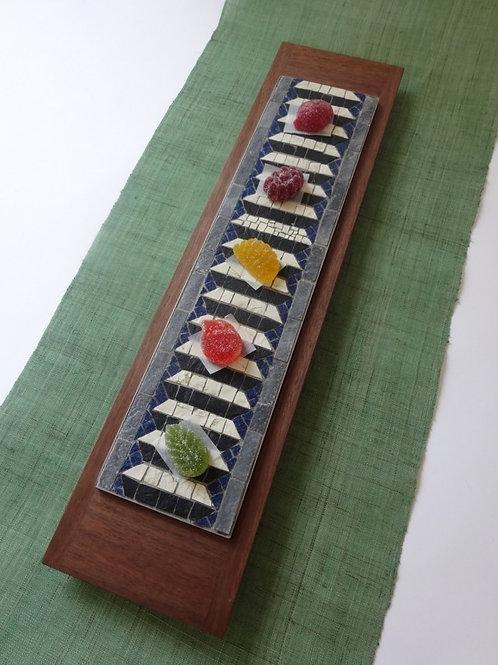Mosaici Plate 幾何学菓子盆 帯