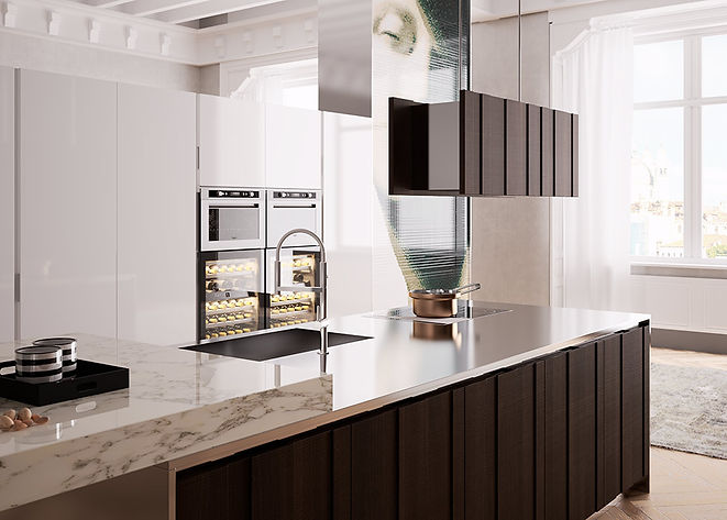 Cusom Kitchens, Urban Cabinets, Painted Kitchen, Suspended Hood