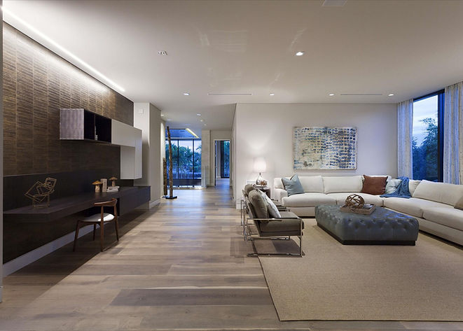 Open Plan, Contemporasy Architecture, Custom Wall Unit