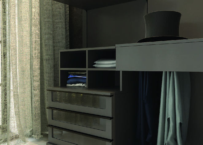 Bedroom Furnitur, Master Closet, Glass Drawers
