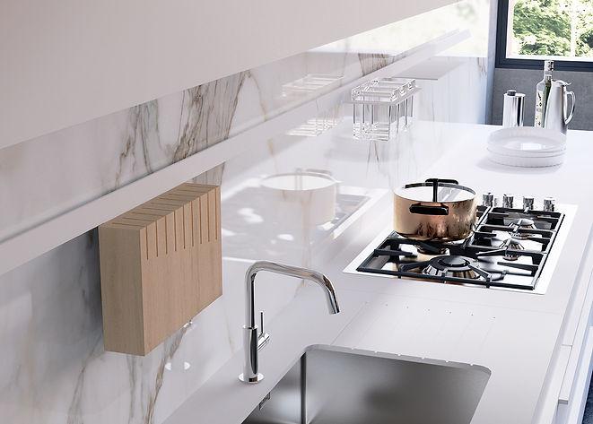 Cooktop, Undermount Sink, Kitchen Faucet