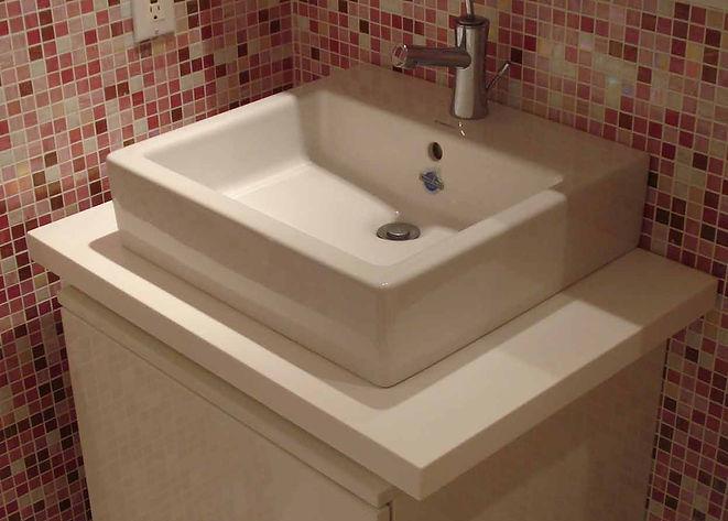 Bath Design, Vanity, Decorative Tiles, Modern Bathrom
