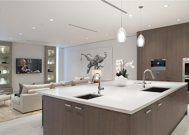Open Plan, Neutral Colors, Custom Interiors, High End Kitchen, Luxury Living