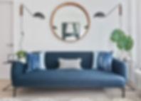 Sofa, Urba Design, Apartment Space, Mirror, Lighting
