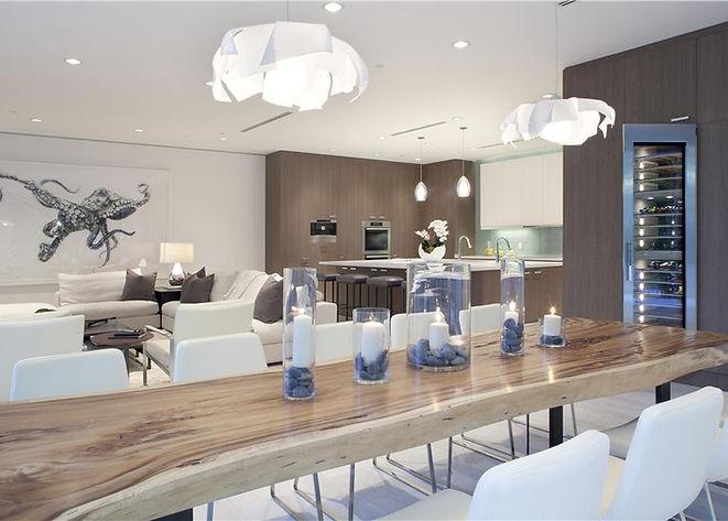 Modern Kichens, Custom Kitchens, Dinng Table, Kitchen Appliances, Modrn Interiors, Living Room, Sofa
