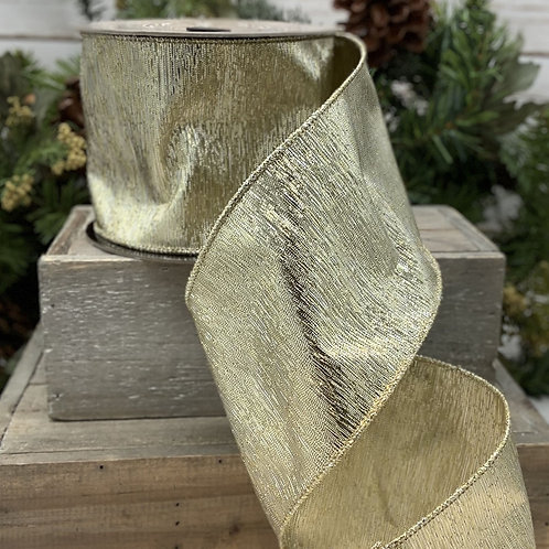 """Double Sided Metallic, Gold 4""""x10YDS"""