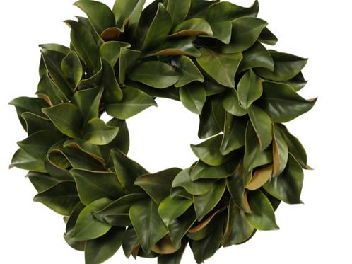 """Magnolia Leaf Wreath 24"""""""