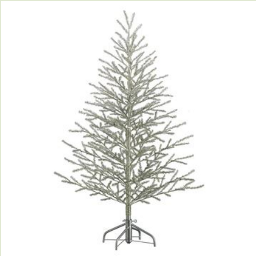 Antique Tinsel Tree x368 on Metal Stand 5'