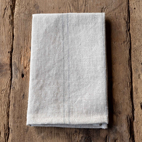 Pewter Pinstriped Woven Linen Cloth Napkin S/4