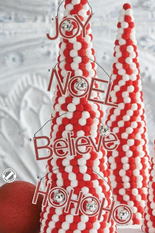 Believe Holiday Message Ornament