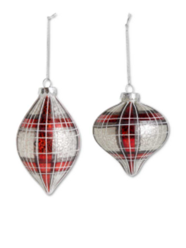 Plaid Onion Ornament