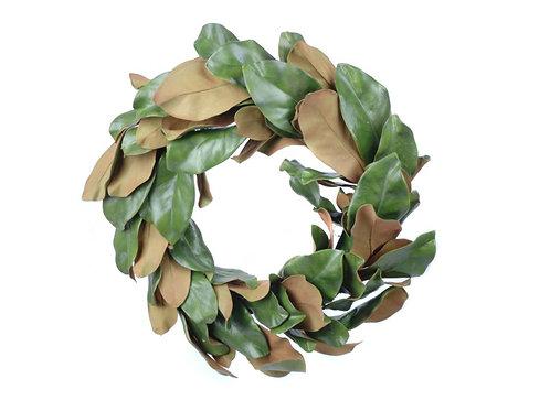 "Magnolia Leaves Wreath 22"""
