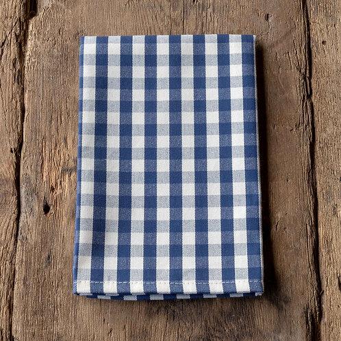 Navy Gingham Cloth Napkin S/4