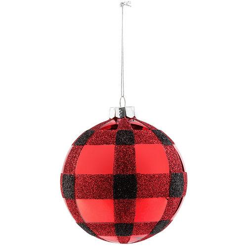 "Plaid Ornament Red Buffalo 4.25"""