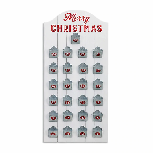 Metal Pockets Advent Calendar
