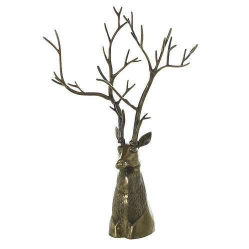"""Stag Head, Gold 47.25"""""""