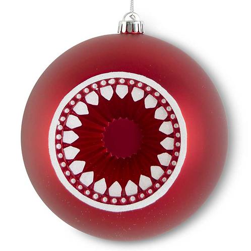 "Glittered Flat Open Shatterproof Ornament 8"""