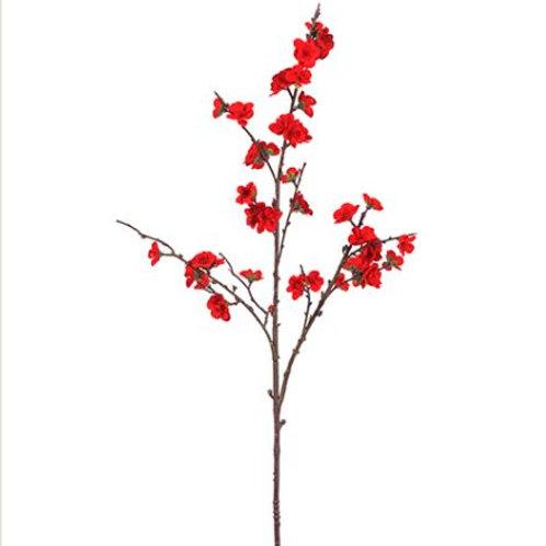 "Velvet Hydrangea Spray 18.5"", Red"