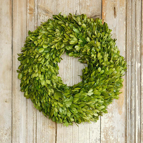 Preserved Boxwood Wreath, Small 12""