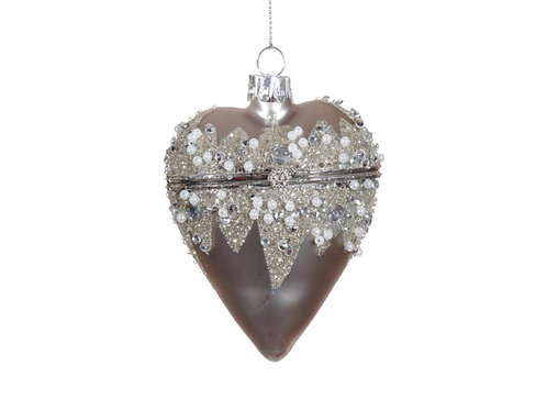"Jewelry Box Heart Ornaments 4"""